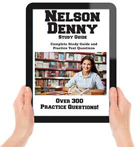 Nelson Denny Test information, test prep and free practice